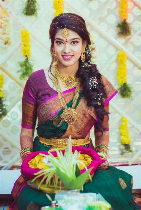 pin  divya prodduturi  hairstyles   south