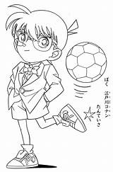 Conan Detective Coloring Ball Kick Colouring Sketch Oasidelleanime Printable Colorare Cartoon Coloringonly Credit Larger Categories Lankybox sketch template