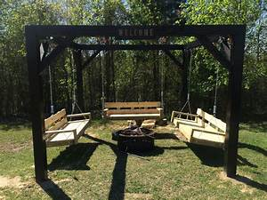 Ana White Fire Pit Swings - DIY Projects