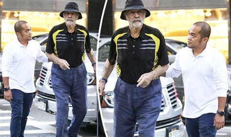 Sir Sean Connery, 87, Looks Fragile As He Clutches Onto