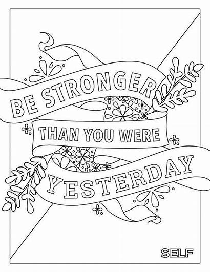 Coloring Pages Quotes Adult Inspirational Quote Bunk