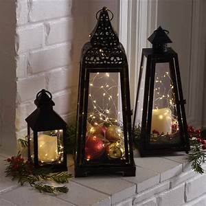 65 amazing christmas lanterns for indoors and outdoors for Kitchen colors with white cabinets with decorative lantern candle holders
