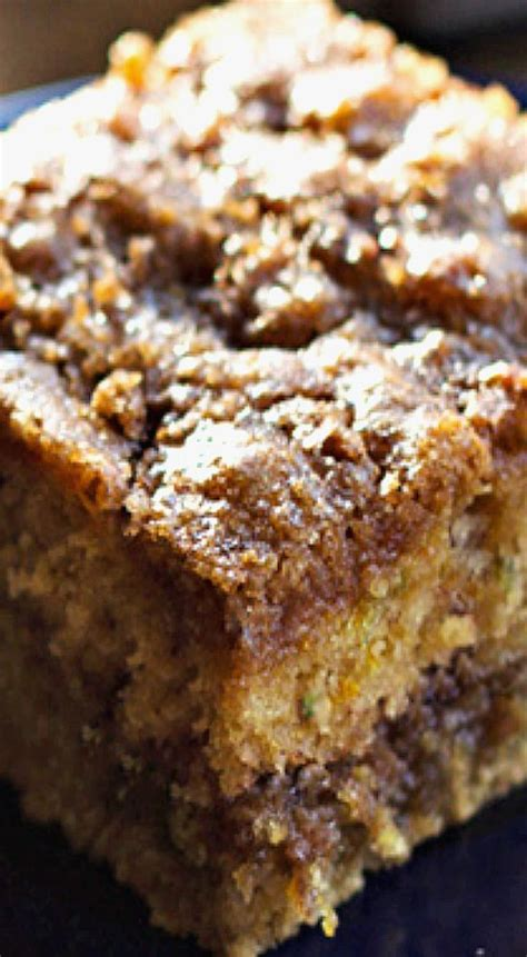 Jun 27, 2020 by whitney reist this is the best easy zucchini coffee cake covered in a buttery streusel topping and drizzled with a. Cinnamon Sugar Zucchini Coffee Cake | Recipe (With images ...