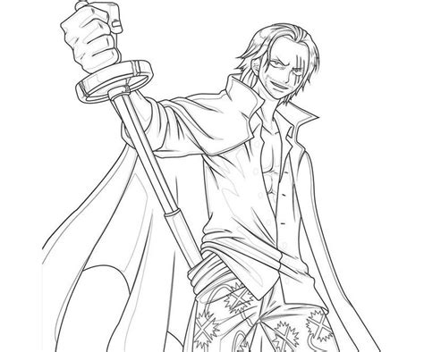One Piece Shanks Sword Coloring Pages