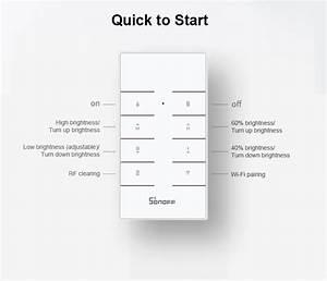Sonoff D1 Smart Dimmer Switch Wifi Wireless Led Light