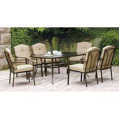 mainstays sonoma 7 patio dining set seats 6 patio