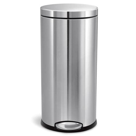 simplehuman  liter gallon stainless steel
