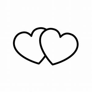 Two Hearts Clip Art Black and White – Cliparts