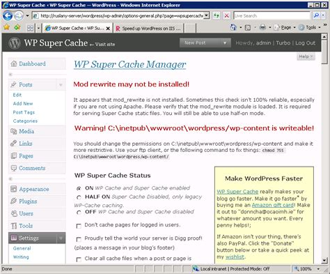 Speed Up Wordpress On Iis 7.0