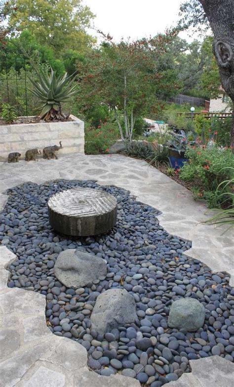 Gartengestaltung Ideen Mit Steinen by Steingarten Idee Kies Brunnen Trittsteine Platten Haus