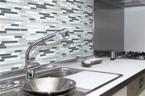 bliss iceland and glass linear mosaic tiles rocky