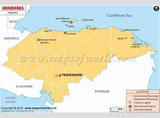 Airports in Honduras, Honduras Airports Map
