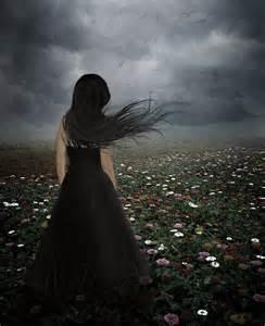 Sad Girl Walking Alone