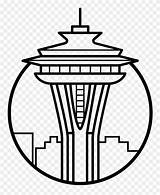 Pinclipart Needle Space Clipart Seattle Coloring Icon sketch template