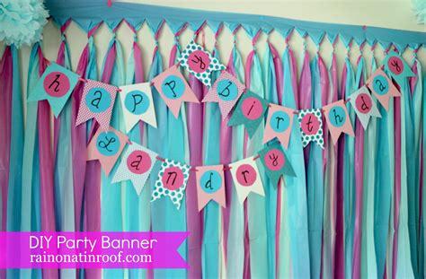 diy birthday ideas simple diy birthday banner tutorial