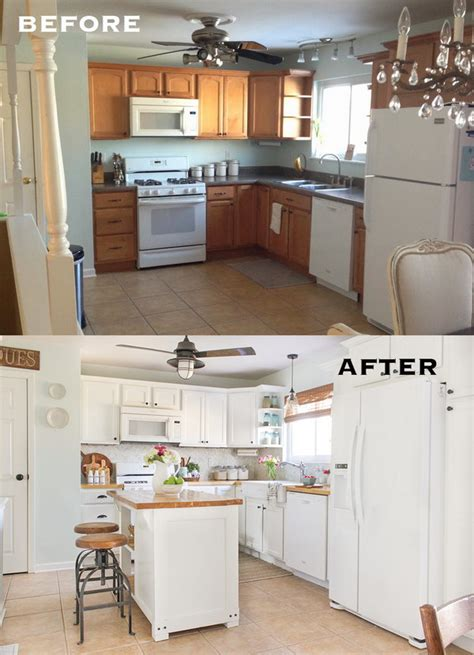 kitchen makeover pictures before and after pretty before and after kitchen makeovers 9494