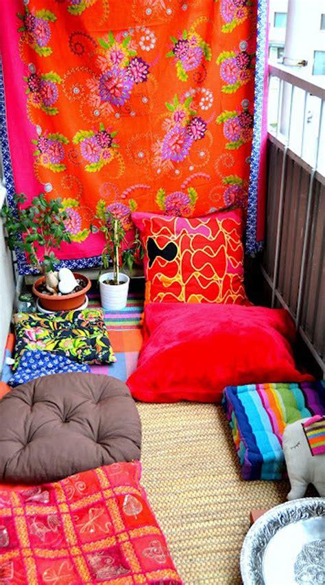 boho ideas colorful and small boho chic balcony ideas
