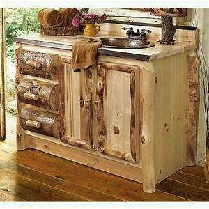 Log Rustic Bathroom Vanities Attractive Rustic Bathroom