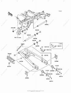 Kawasaki Motorcycle 2010 Oem Parts Diagram For Swingarm