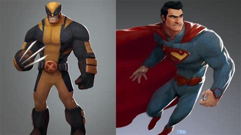 Cartoonish Superhero Art Series