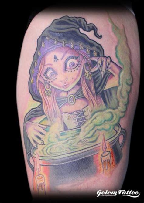 fantasy witch tattoo  golem tattoo