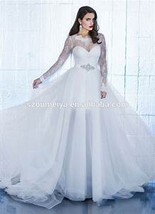 aliexpresscom buy ow82 high low long sleeve lace With long sleeve high low wedding dresses
