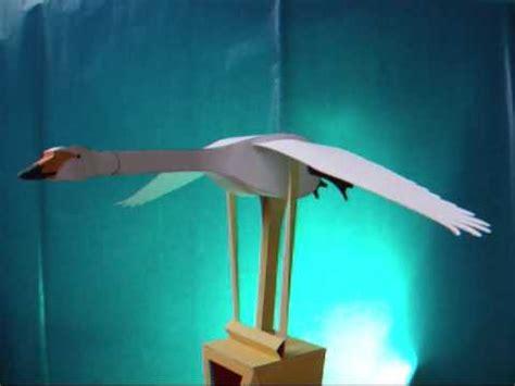 automaton papercraft flying swan dutchpapergirl