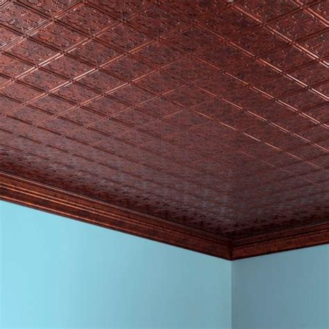 Menards Ceiling Tile Paint by Fasade Traditional 10 2 X 4 Pvc Glue Up Ceiling Tile