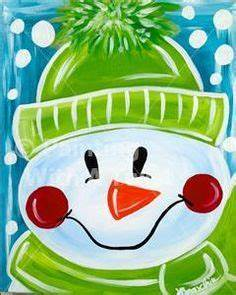 easy christmas acrylic paintings Google Search