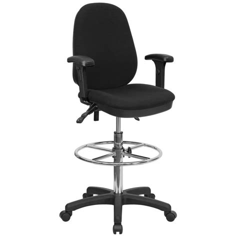 ergonomic drafting chair black multi functional with