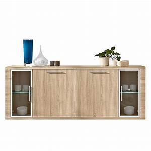 Sideboard Mit Glastüren : sideboard cool 4 t rig mit glast ren eiche dekor ~ Markanthonyermac.com Haus und Dekorationen