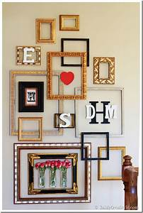 Wall decor and photo frames : Picture frame gallery wall with a valentine surprise in