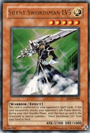 yu gi oh flaming eternity single silent swordsman lv5
