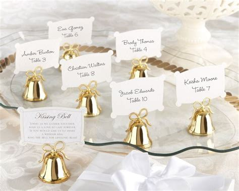 Gold Kissing Bell Place Card Holders (set Of 24