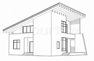 Architectural drawing at home in the perspective | Stock ...