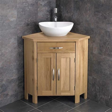 Freestanding Oak Bathroom Cabinet Basin Countertop Vanity