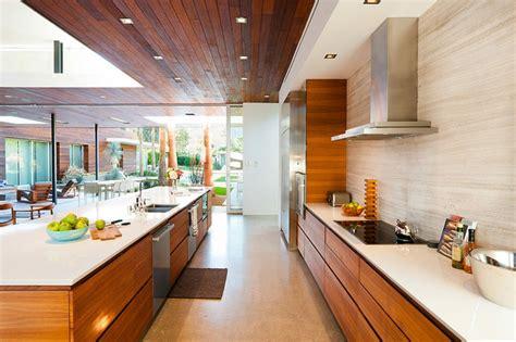 cuisine americaine de luxe luxueuse maison de plain pied à indian en californie
