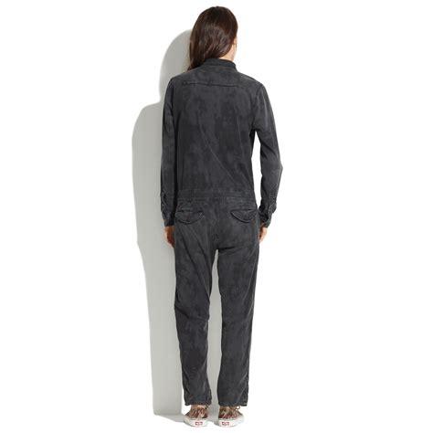 mechanics jumpsuit madewell mechanic jumpsuit in black lyst