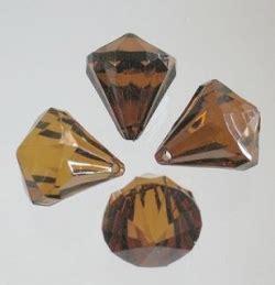 dekodiamanten geschliffen mit loch bernstein