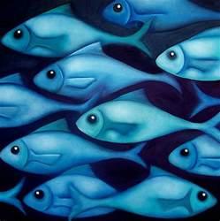 Blue Fish Painting