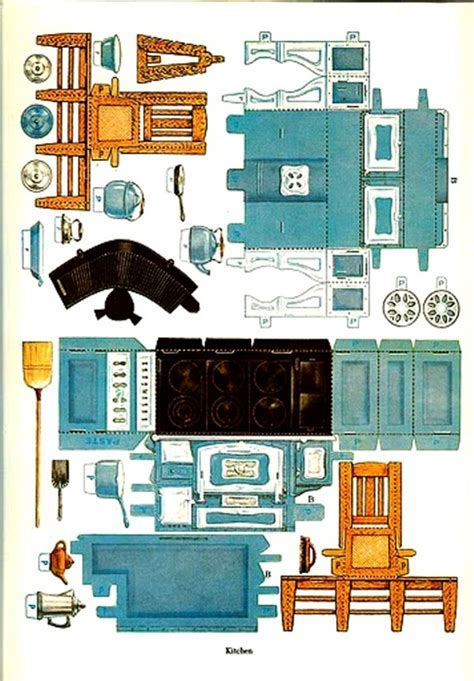 5 Best Images of Paper Dollhouse Furniture Printables
