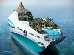 Floating Island Yacht Tropical Island Paradise Yacht