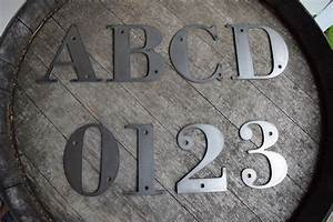 4 1 2 tall metal letters and numbers rustic letters With 4 metal letters