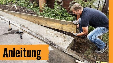 mauer bauen fundament streifenfundament bauen hornbach meisterschmiede