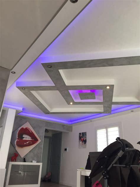 deco plafond chambre plafond placo design relief led faux plafond