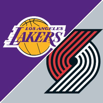 lakers  trail blazers game recap january