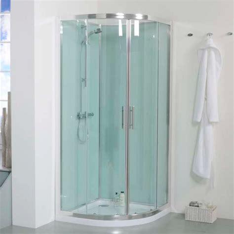 quadrant shower cabin  aqua white  panels
