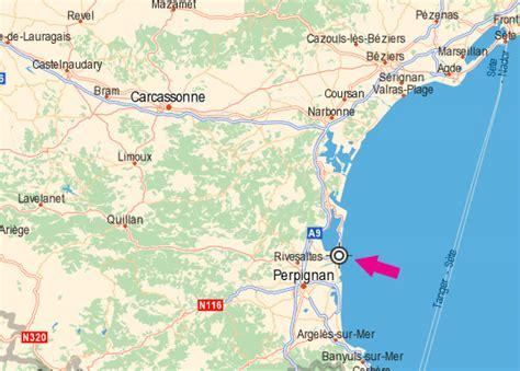 Distance Nautique Entre 2 Ports by Vacances Port Barcares Situation Geographique