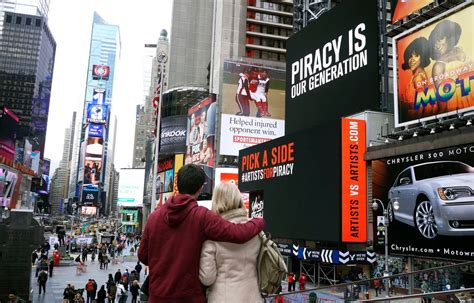 Ghost Beach Band Debates Piracy On Times Square Billboard