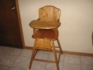 vintage wood baby high chair on popscreen